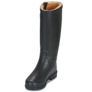 NWOB Agile Wellington Black Fur Line Rain Boot